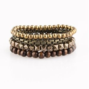 Set of 4 Stretchy Bracelets - Autumn Colors